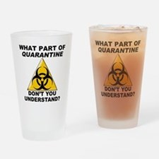 Quarantine Drinking Glass