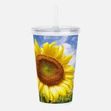 Sunflower Garden Acrylic Double-wall Tumbler