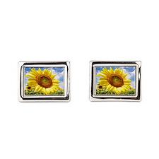 Sunflower Garden Rectangular Cufflinks