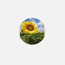 Sunflower Garden Mini Button
