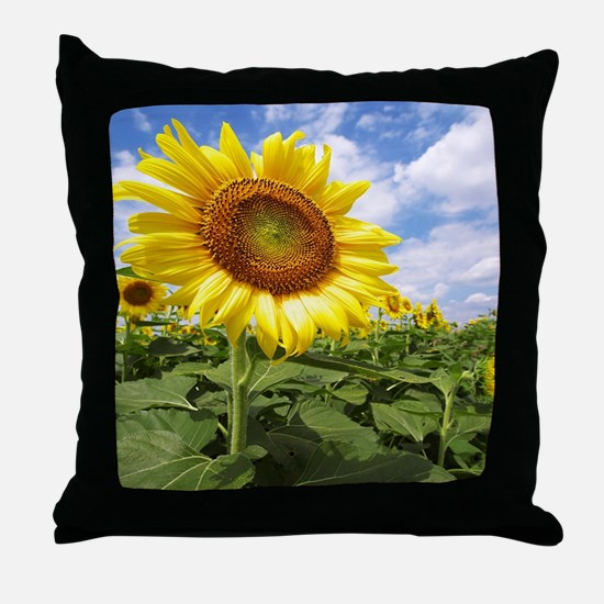 Sunflower Garden Throw Pillow