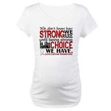 Lung Cancer HowStrongWeAre Shirt