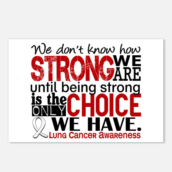 Lung Cancer HowStrongWeAr Postcards (Package of 8)