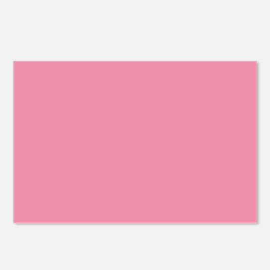 Salmon Pink Solid Color Postcards (Package of 8)