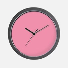 Salmon Pink Solid Color Wall Clock
