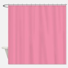 Salmon Pink Solid Color Shower Curtain