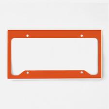 Persimmon Orange Solid Color License Plate Holder