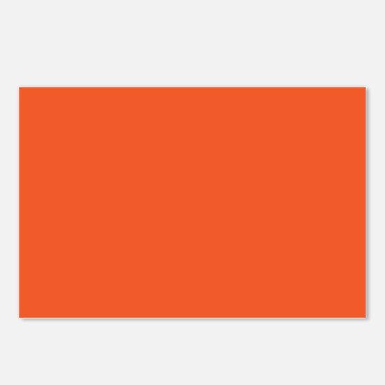 Persimmon Orange Solid Color Postcards (Package of