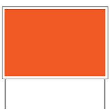 Persimmon Orange Solid Color Yard Sign