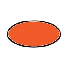 Persimmon Orange Solid Color Patches
