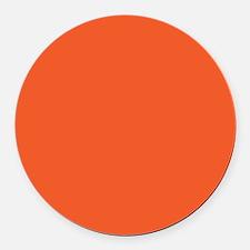 Persimmon Orange Solid Color Round Car Magnet