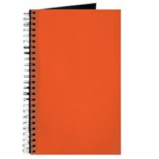 Persimmon Orange Solid Color Journal