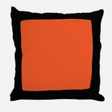 Persimmon Orange Solid Color Throw Pillow