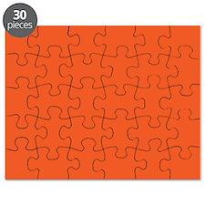 Persimmon Orange Solid Color Puzzle