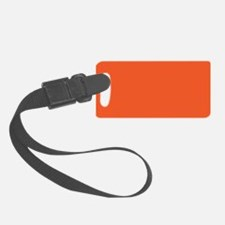 Persimmon Orange Solid Color Luggage Tag