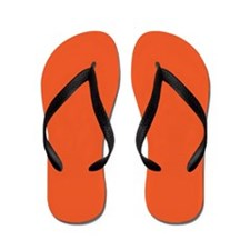 Persimmon Orange Solid Color Flip Flops