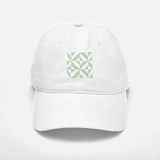 Sage Green Geometric Cube Pattern Baseball Baseball Cap