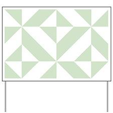 Sage Green Geometric Cube Pattern Yard Sign