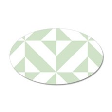 Sage Green Geometric Cube Pa Wall Decal
