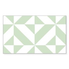 Sage Green Geometric Deco Cube Pattern Decal
