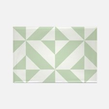 Sage Green Geometric Cube Pattern Rectangle Magnet