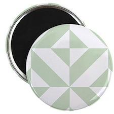 Sage Green Geometric Deco Cube Pattern Magnets