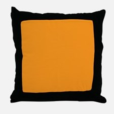 Tangerine Orange Solid Color Throw Pillow