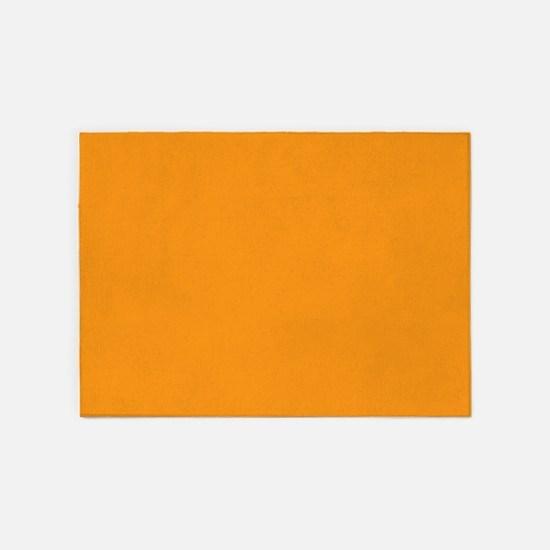 Tangerine Orange Solid Color 5'x7'Area Rug