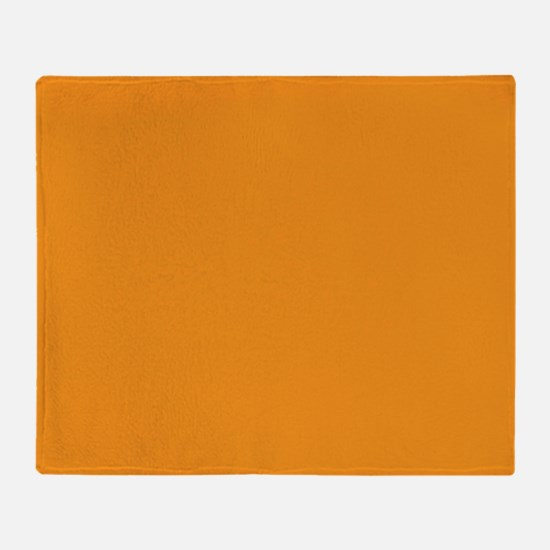 Tangerine Orange Solid Color Throw Blanket