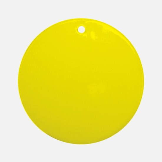 Aureolin Yellow Solid Color Ornament (Round)