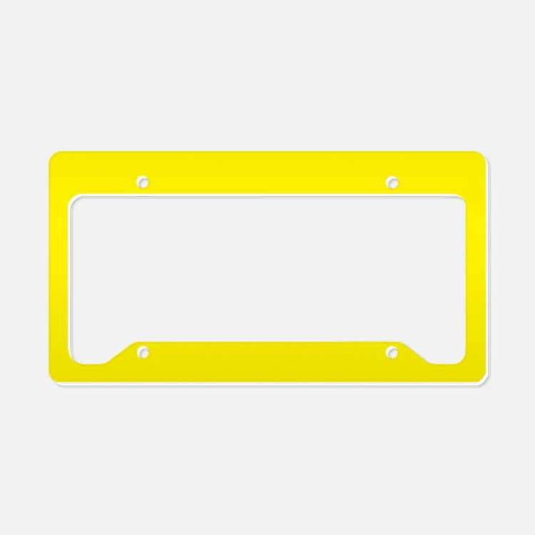 Aureolin Yellow Solid Color License Plate Holder
