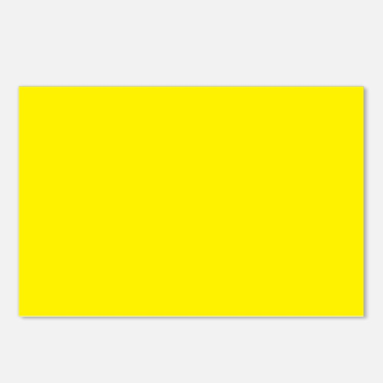 Aureolin Yellow Solid Color Postcards (Package of