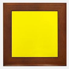 Aureolin Yellow Solid Color Framed Tile
