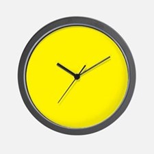 Aureolin Yellow Solid Color Wall Clock