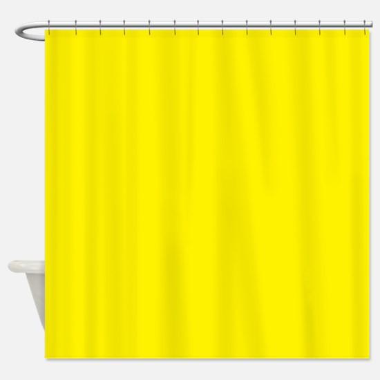 Aureolin Yellow Solid Color Shower Curtain