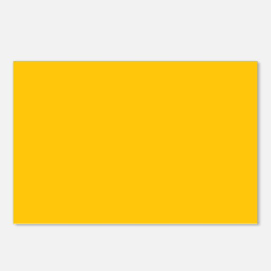 Gold Yellow Solid Color Postcards (Package of 8)