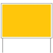 Gold Yellow Solid Color Yard Sign