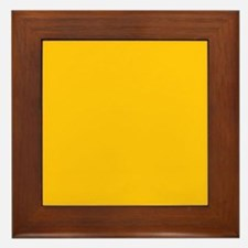 Gold Yellow Solid Color Framed Tile