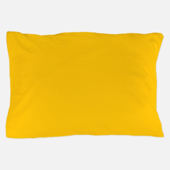 Gold Yellow Solid Color Pillow Case