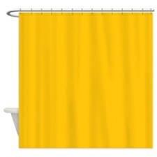 Gold Yellow Solid Color Shower Curtain