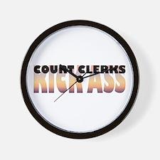 Court Clerks Kick Ass Wall Clock