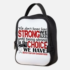 Bone Cancer HowStrongWeAre Neoprene Lunch Bag