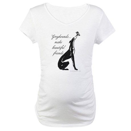 Greyhound Maternity T-Shirt/Butterfly
