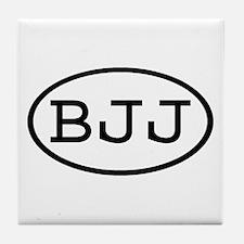 BJJ Oval Tile Coaster