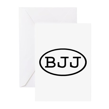 BJJ Oval Greeting Cards (Pk of 10)