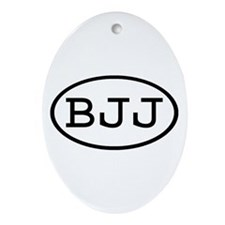 BJJ Oval Oval Ornament