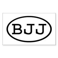 BJJ Oval Rectangle Decal