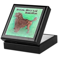 Portuguese Water Dog Brown Wavy Keepsake Box