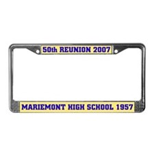 50th Reunion Mariemont 1957 License Plate Frame