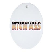Cotton Growers Kick Ass Oval Ornament